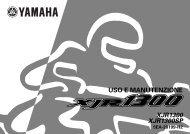 Yamaha XJR1300 - 2000 - Manuale d'Istruzioni Italiano