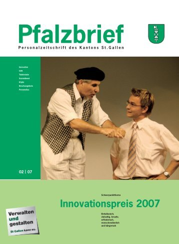 Innovationspreis 2007 - Kanton St. Gallen