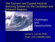 Tsunami and Other Coastal Hazards Warning System for the - WMO