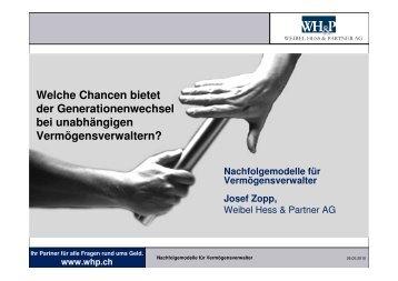 Nachteile - WH&P Weibel, Hess & Partner AG