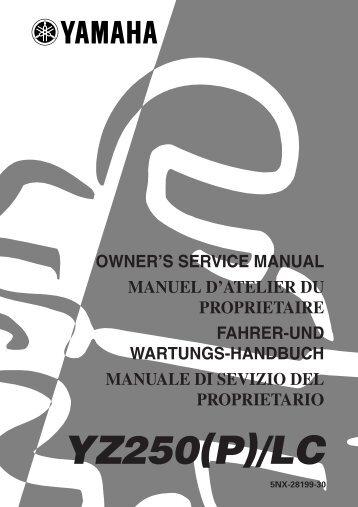 Yamaha YZ250LC - 2002 - Manuale d'Istruzioni Italiano
