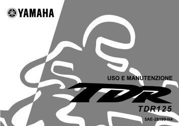 Yamaha TDR125 - 2001 - Manuale d'Istruzioni Italiano