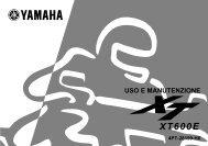 Yamaha XT600E - 2000 - Manuale d'Istruzioni Italiano