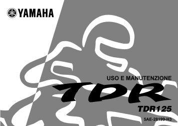 Yamaha TDR125 - 2000 - Manuale d'Istruzioni Italiano