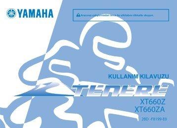 Yamaha XT660Z - 2012 - Manuale d'Istruzioni Türkçe