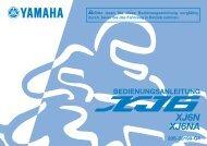 Yamaha XJ6-N - 2014 - Manuale d'Istruzioni Deutsch