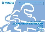 Yamaha XJ6-S - 2014 - Manuale d'Istruzioni Italiano