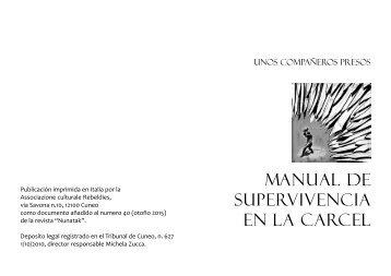 mANUAL DE SUPERVIVENCIA EN LA CARCEL