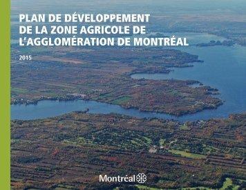 Plan de développement de la zone agricole de l'agglomération de Montréal