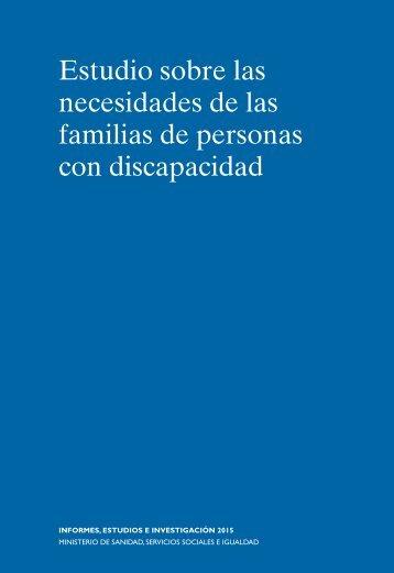 Estudio sobre las necesidades de las familias de personas con discapacidad