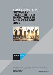 SEXUALLY TRANSMITTED INFECTIONS IN NEW ZEALAND 2014