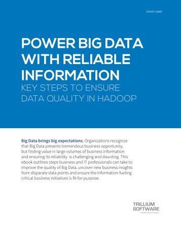POWER BIG DATA WITH RELIABLE INFORMATION