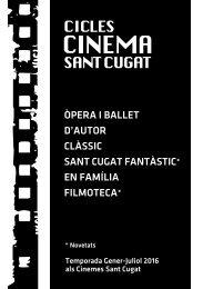 SANT CUGAT FANTÀSTIC* EN FAMÍLIA FILMOTECA*