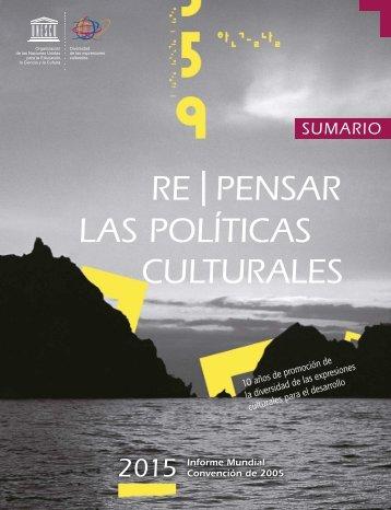 RE | PENSAR LAS POLÍTICAS CULTURALES