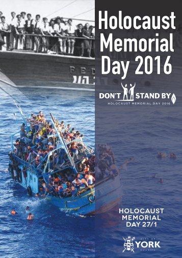 Holocaust Memorial Day 2016