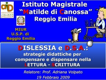 "Istituto Magistrale ""Matilde di Canossa"" Istituto Magistrale ""Matilde di ..."