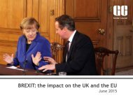 BREXIT the impact on the UK and the EU