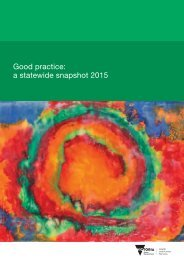 Good practice a statewide snapshot 2015