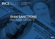 IRAN SANCTIONS AN ASIA UPDATE