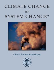 CLIMATE CHANGE or SYSTEM CHANGE?