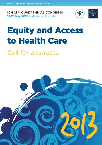 Equity and Access to Health Care - ICN 25th Quadrennial Congress