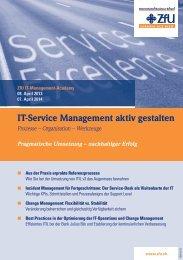 IT-Service Management aktiv gestalten - ZfU - International Business ...