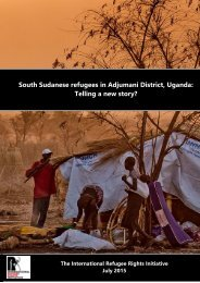 South Sudanese refugees in Adjumani District Uganda Telling a new story?