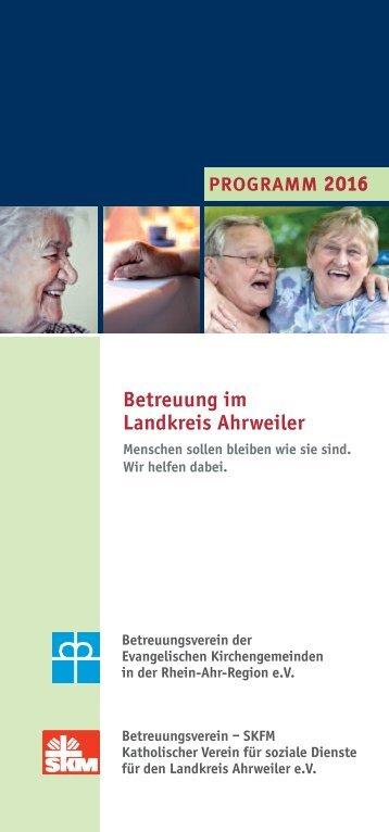 Betreuung im Landkreis Ahrweiler - Programm 2016