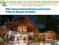 Rental Homes and Luxury Villas in Manuel Antonio