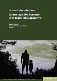 Le mariage des hommes avec leurs filles adoptives