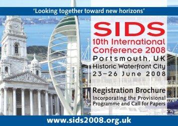 Save time - register online - www.sids2008.org.uk - ISPID