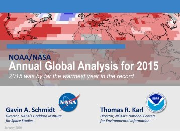 Annual Global Analysis for 2015