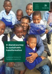 A shared journey to sustainable transformation