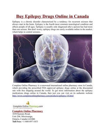 Buy Epilepsy Drugs Online in Canada