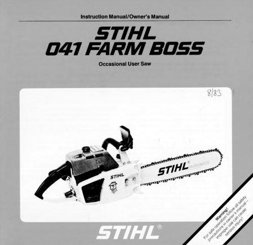 Stihl 041 Farm Boss Parts Diagram Atkinsjewelry