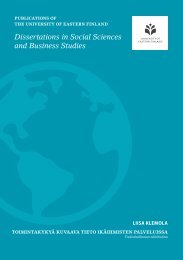 Dissertations in Social Sciences and Business Studies