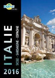 Brochure Italie Sicile Sardaigne Espagne 2016