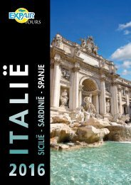 Brochure Italië Sicilië Sardinië Spanje 2016