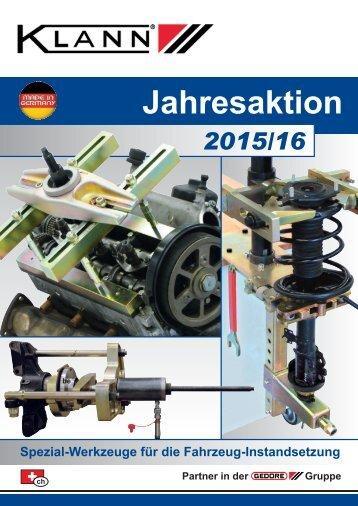 Klann Jahresaktion  Katalog 2015/16