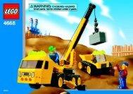 Lego Outrigger Construction Crane - 4668 (2004) - Quick Fix Station BI 4668 NA