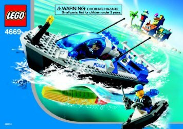 Lego Turbo-charged Police Boat - 4669 (2004) - Quick Fix Station BI 4669 NA
