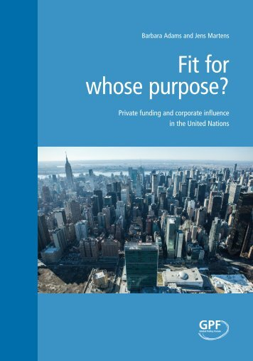 Fit for whose purpose?