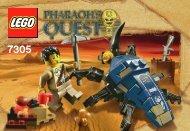 Lego Scarab Attack - 7305 (2010) - The Secret of the Sphinx BI 3001/16 - 7305 V 29/39