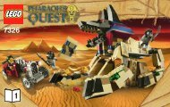Lego Rise of the Sphinx - 7326 (2010) - The Secret of the Sphinx BI 3004/16 -7326 V29/39 BOOK 1