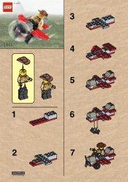 Lego JOHNNY THUNDRE'S PLANE - 5911 (2000) - RULER OF THE JUNGLE BUILD. INST. 5911