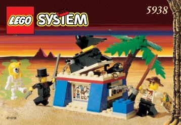Lego The Anubis Chamber - 5938 (1998) - Track Master BUILDING INSTR. 5938