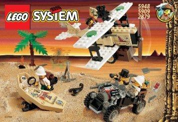 Lego DESERT EXPEDITION - 5948 (1998) - Track Master BUILDING INSTR. 5909/5948/2879