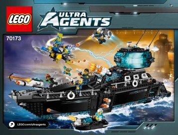 Lego Ultra Agents Ocean HQ - 70173 (2015) - UltraCopter vs. AntiMatter BI 3019/176+4/65+200 - 70173 V39