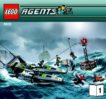 Lego Speedboat Rescue - 8633 (2008) - UltraCopter vs. AntiMatter BUILD INSTR 3005, 8633 1/2