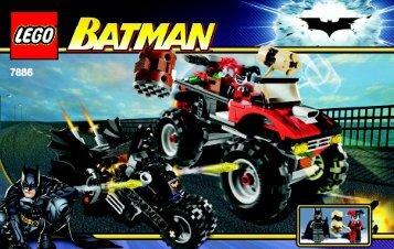 Lego The Batcycle™: Harley Quinn's Hammer Tru - 7886 (2008) - Robin's Scuba Jet: Attack of The Penguin BI 7886